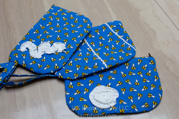 cute wristlets made with whimisical fabric as a teacher's thankyou gift