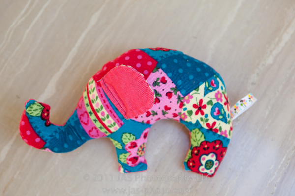cute stuffed elephant toy with free pattern and tutorial