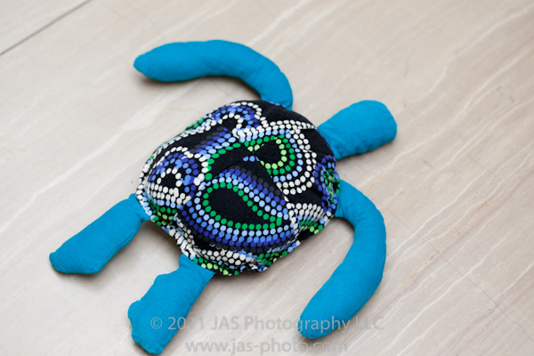 blue corduroy stuffed sea turtle