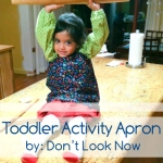 activity apron for kids fre pattern