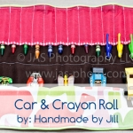 car and crayon roll for kids