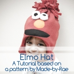simple fleece elmo hat pattern by made-by-rae