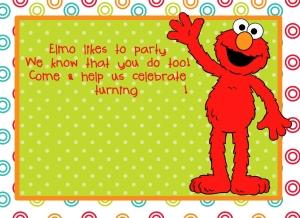 personalizable elmo invitation diy