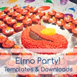 a tutorial with tips and multiple template downloads for an amazing elmo birthday party for kids