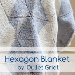 intricate baby hexagon blanket knitting pattern