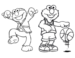 free download of 16 pages of an elmo coloring book for an elmo themed party
