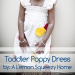 cute toddler dress with poppy flowers