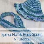 airy summer knitted spiral hat and ruffled scarf tutorial for kids