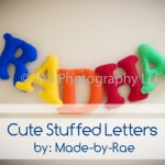cute dtuffed letters great present for kids