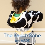 cute toddler beach robe pattern