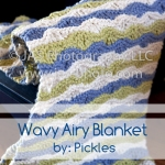 airy, wavy summer blanket for babies