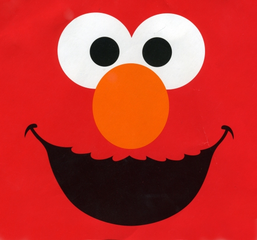 elmo face on red background good quality