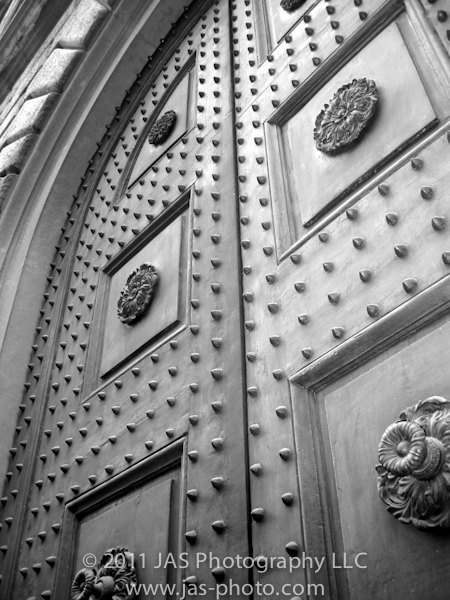old spiked door in Italy for the daily post's weekly photo challenge on entrance