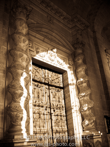 intricate church door in Sicily, Italy for the daily post's weekly photo challenge on entrance