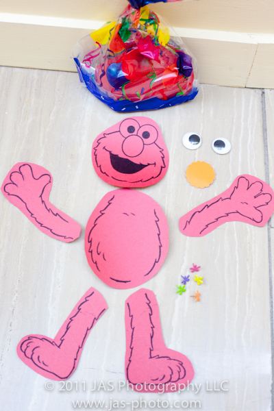 build your own elmo activity for a sesame street elmo birthday party theme
