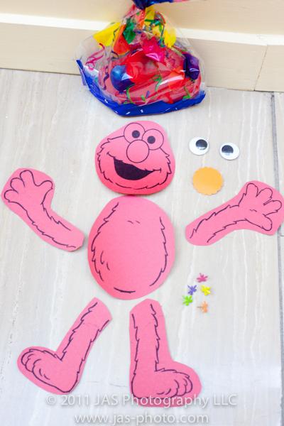 build your own elmo activity for a sesame street elmo birthday party theme