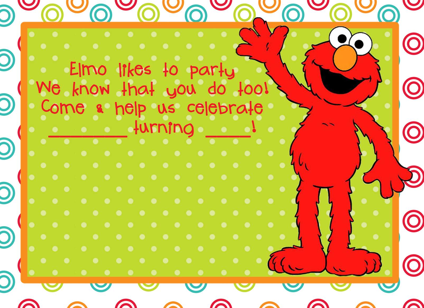 printable elmo birthday invitations template com elmo birthday party theme for a budget tons of