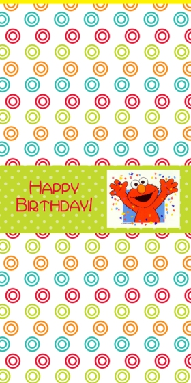 hershey mini candy bar label for elmo party theme
