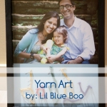 father's day gift idea made with yarn art