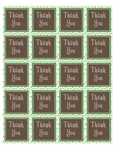 DIY printable PDF thank you sticker