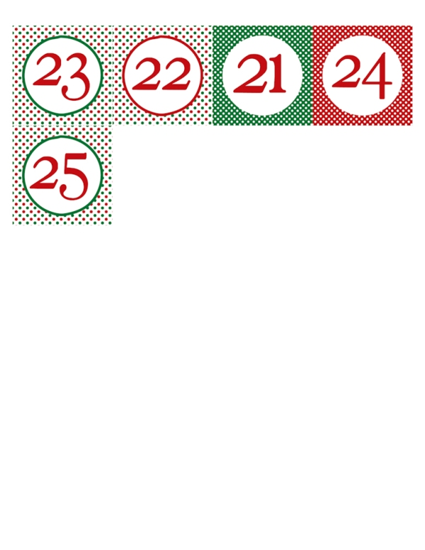 free download christmas numbers for advent calendar
