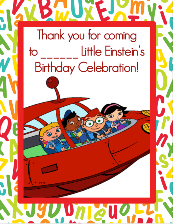 free download little einstein's coloring book cover birthday party favor
