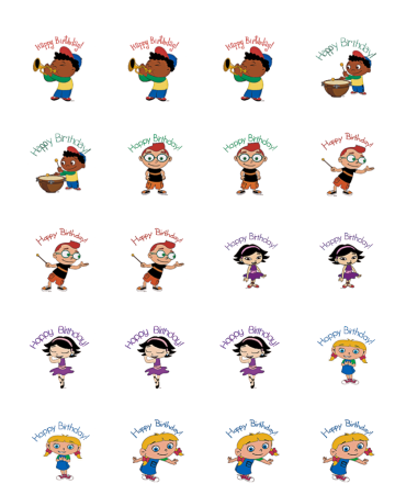 Little Einsteins Cupcake Toppers free download