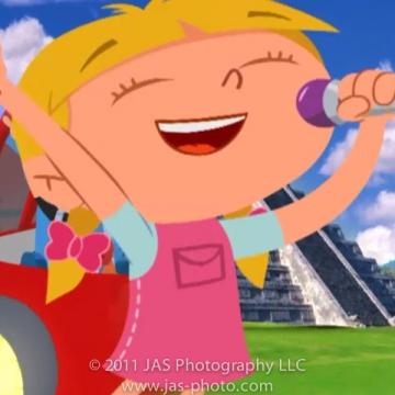 little einstein's annie singing in microphone