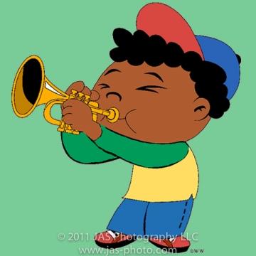 little einstein's quincy playing the trumpet