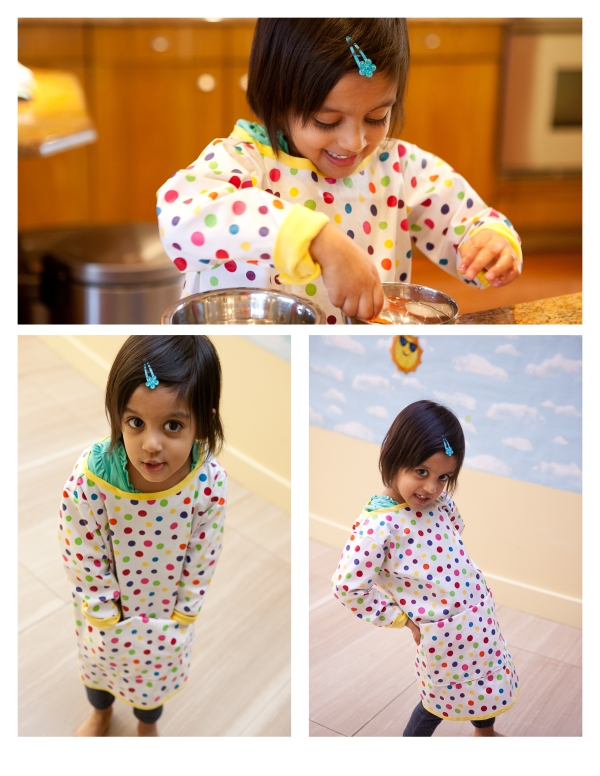 diy handmade waterproof apron smock for water play