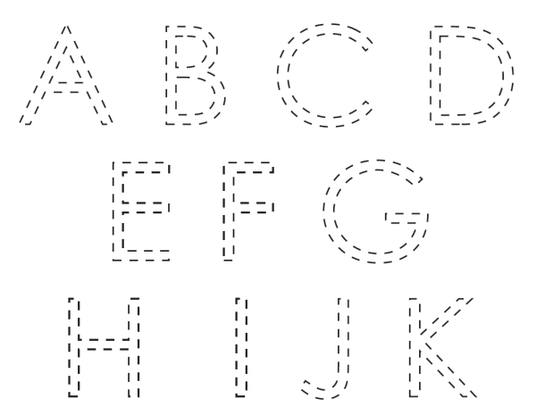 free letters tracing printable PDF for kids