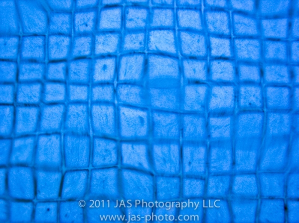 abstract blue squares warped