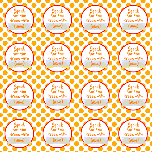 Free lorax printable download: Editable Cupcake Toppers 1