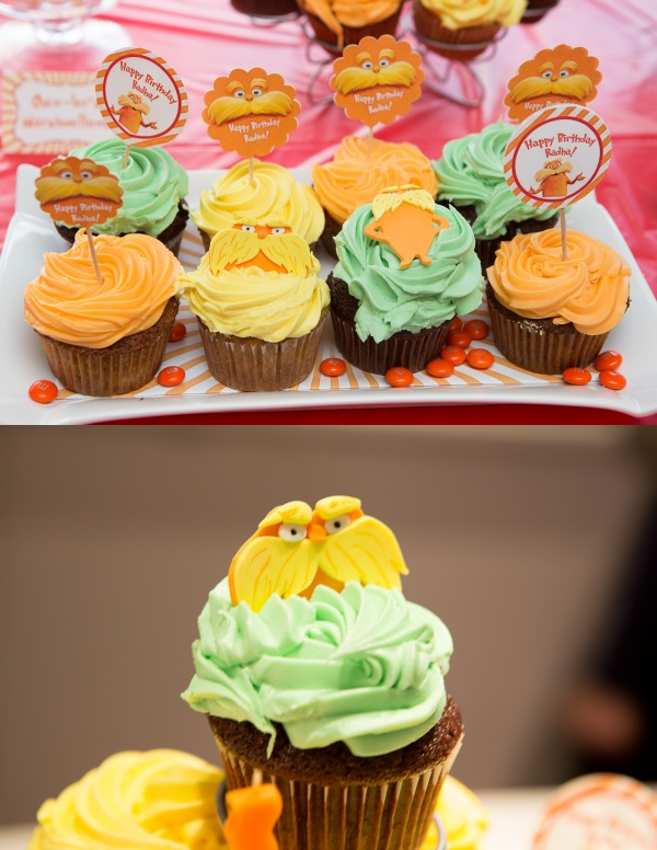 lorax party cupcakes