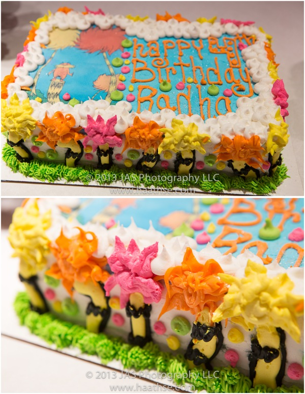 lorax party ice cream cake