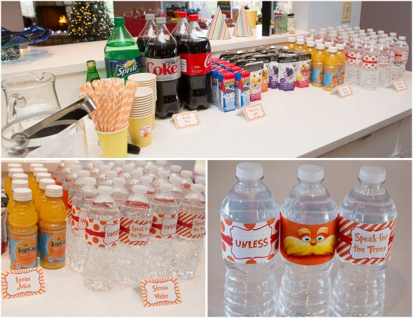 lorax party drink display