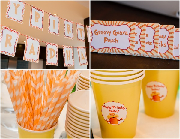 lorax party drink display birthday banner food labels free downloads