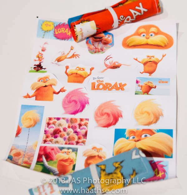 lorax party stickers